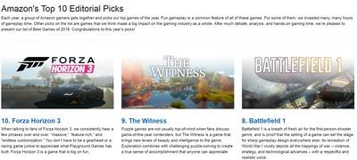 米amazonオススメゲームトップ10が発表