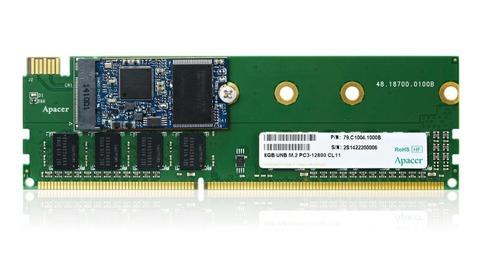 台湾Apacer、DDR3 DIMM上にM.2 SSDを搭載可能な「Combo SDIMM」を正式発表