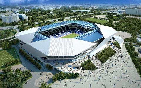 ガンバ大阪の新スタジアムが着工 15年秋完成予定、4万人収容