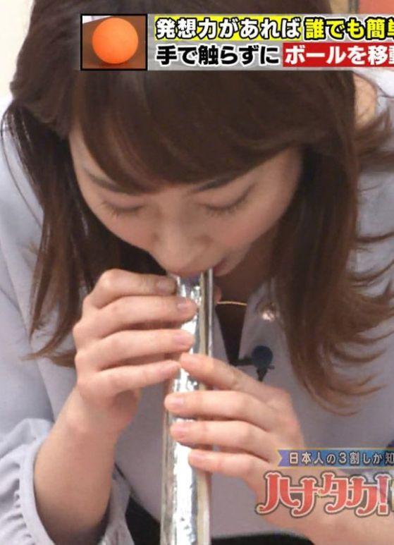 新井恵理那(27)お天気お姉様の疑似ぺろぺろがぐうシコ!!!!【エロ画像】