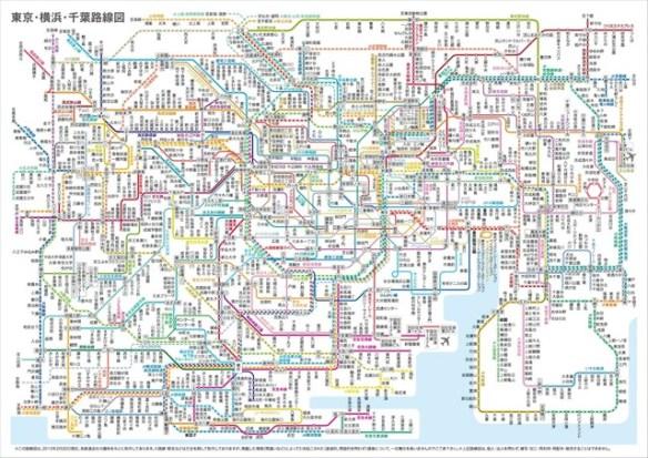 東京の路線図やばすぎワロタwwwwwww