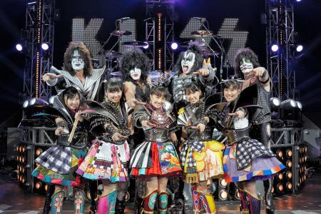 ももクロと米ハードロックバンド「KISS」がコラボ!来年1月にシングルを発売!!【画像あり】