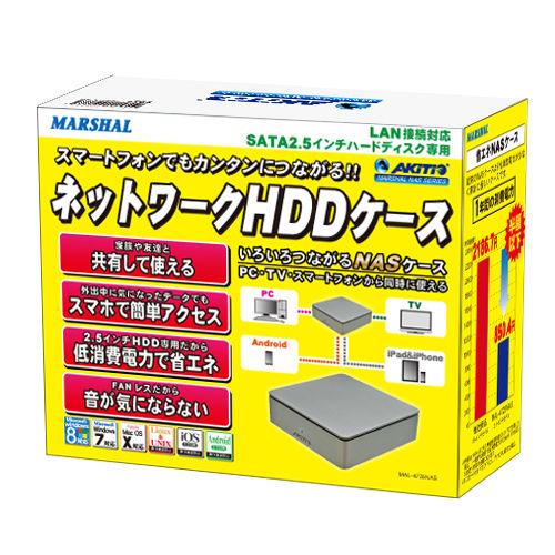 2.5インチHDDでNAS自作! MARSHAL初のNAS対応HDDケース「AKiTiOシリーズ」登場
