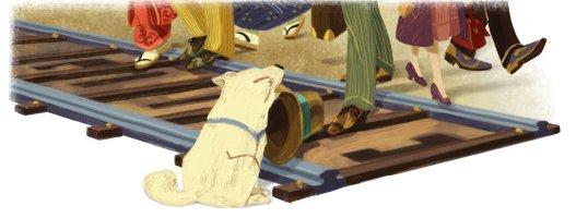 あの忠犬の生誕記念! Googleロゴに犬が描かれてるけど、あれって?
