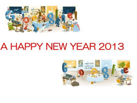 Googleロゴで1年を始める Googleホリデーロゴネタで2013年始動!