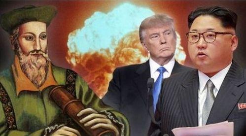 北朝鮮 ミサイル アメリカ 金正恩 ドナルド・トランプ ノストラダムス 第三次世界大戦に関連した画像-01