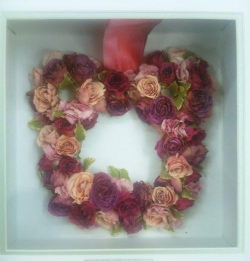 ウエディングブーケ押し花