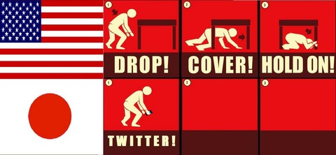 【画像】 「地震が起きた時の、アメリカ人と日本人の違い」 日本人たくましすぎワロタ