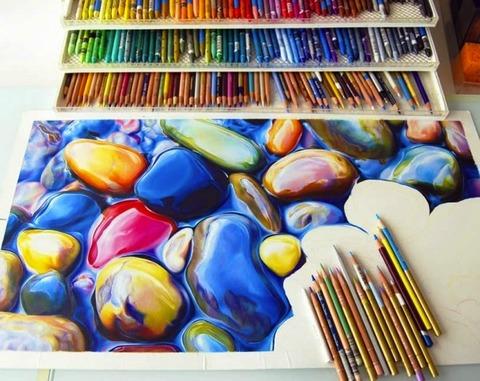 【画像】色鉛筆で ここまで出来る