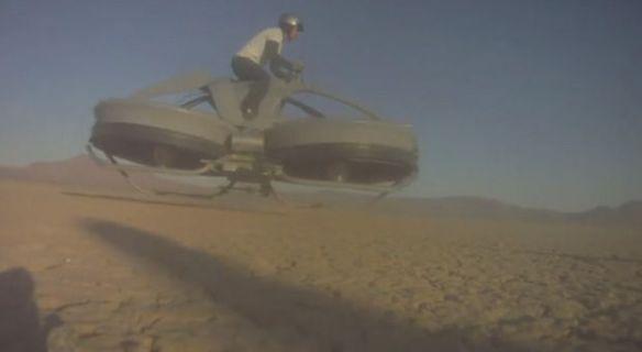 空飛ぶバイク、ついに実現へ(映像あり)