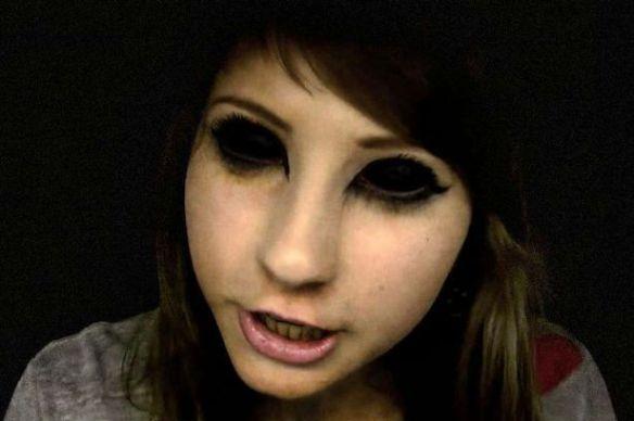 黒い眼の少女が目撃される(画像あり)