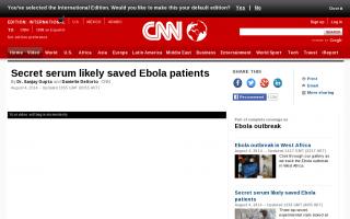 エボラ出血熱】感染・発症の米国人2人、開発途中の血清療法により回復