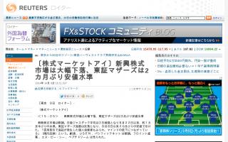 日経平均15500円割れ3日続落、新興市場も大幅下落 海外勢の売りにヘッジファンドが便乗