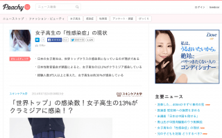 「世界トップクラス」の感染数!日本の女子高生の13%がクラミジアに感染!?