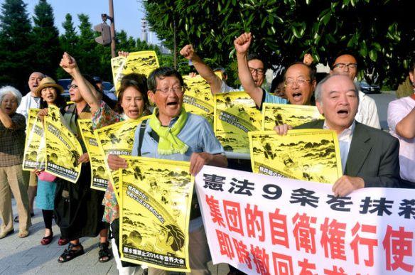 集団的サヨク「閣議決定を撤回しろ」しつこく続く官邸前怒声デモ