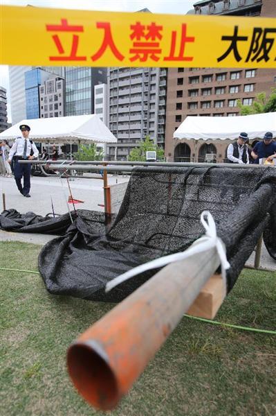 GWの大阪で惨劇「中之島まつり」会場で鉄パイプが崩れ5人負傷