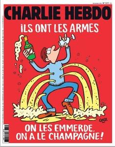 【フランス】「あいつらには銃がある、我々にはシャンパンがある」…シャルリーエブド紙がテロ風刺画