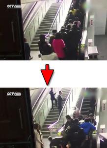 【動画】中国でエスカレーターに人が殺到 → 逆走して大勢が下敷きに