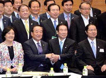 日韓議員連盟「外国人への地方参政権、日本側も法整備に努力する」