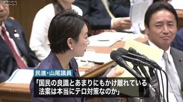民進党・山尾志桜里「テロ資金のためキノコを違法採取したら逮捕されるのか」 金田法相「当たり前だろ」