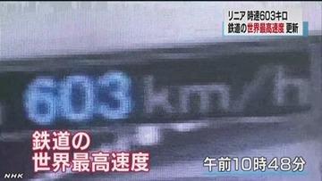 【報ステ】リニア新幹線が世界最速を記録 → 古舘「スピード出しすぎな感じ。ギネスに載りたいだけでは?」