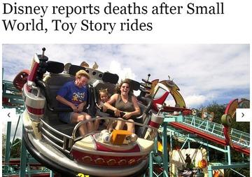 【米国】ディズニーワールドで相次ぐ客の死亡…「乗り物」で体に負担か