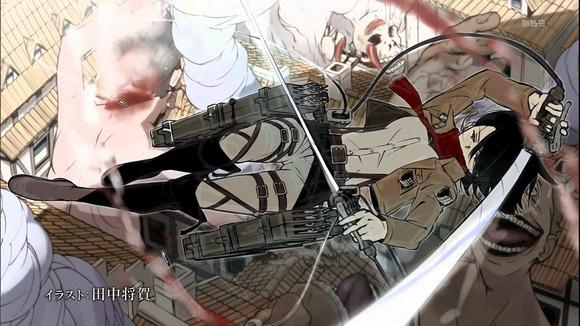 【進撃の巨人】第22話 リヴァイスピンが女型巨人に炸裂!でも撤退の悲壮感がハンパじゃない・・・追加パート鬼畜すぎワロタ・・・