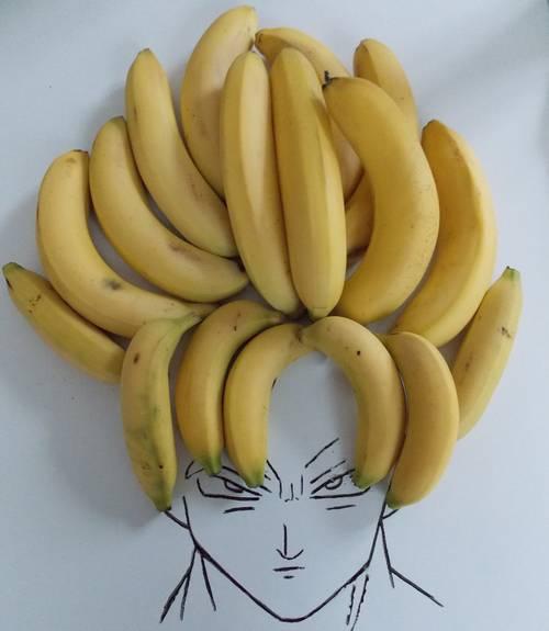 【画像】バナナでスーパーサイヤ人再現、米国のネットで話題に