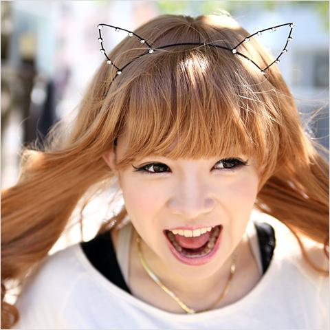 【速報】 若い女性の間で、「猫耳カチューシャ」が流行中 二次元きたああああ!!!!!!!!