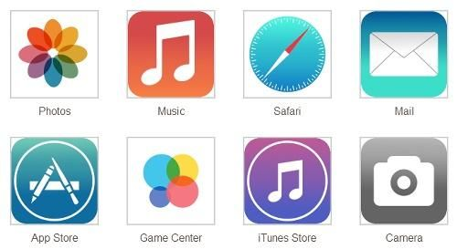 【話題】iOS7の噂のフラットアイコンが流出するが実はフェイクだったらしくiPhoneユーザーひと安心