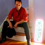 Lexington, MA 08.26.2008:   Digney Fignus (cq) had a new wave hit in the 80's is back with a new album.    Section: LIVING; Slug: ; Reporter: james sullivan     Globe Staff Photo, David Kamerman
