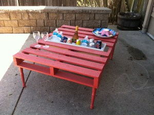 pallet table after