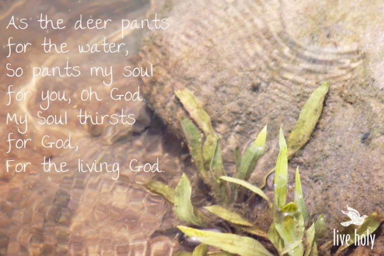 Soul Thirsts for God