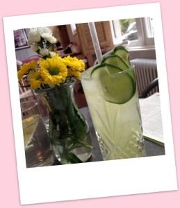 Cucumber and mint lemonade