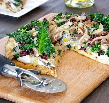 Kale and Mushroom Tart