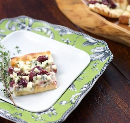 Roasted Grape and Gorgonzola Flatbread