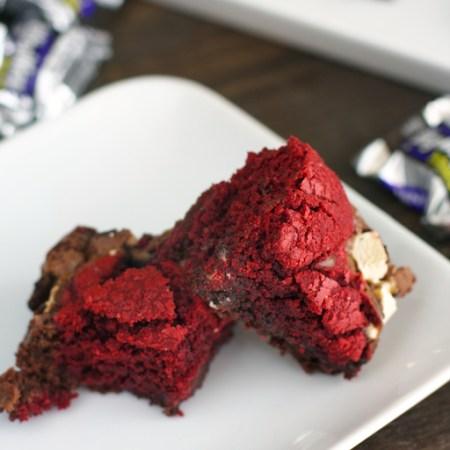 Red Velvet Brownie Cookie Bars