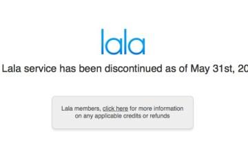 lala has shut down