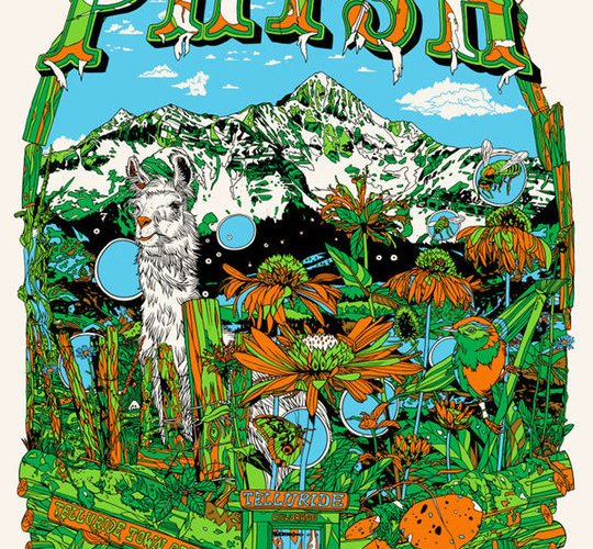 phish telluride poster