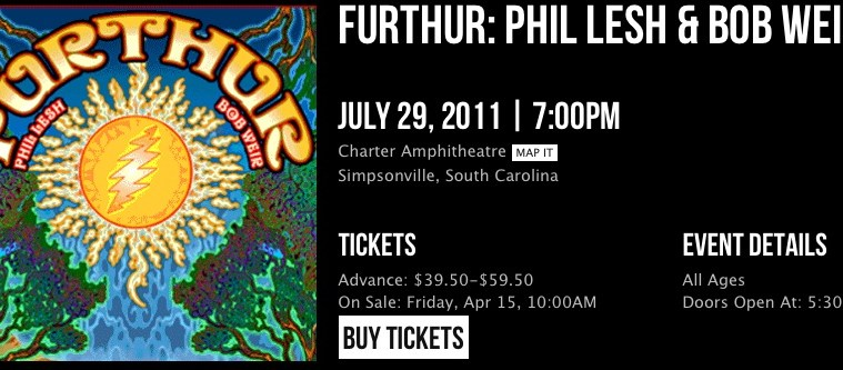 furthur in sc
