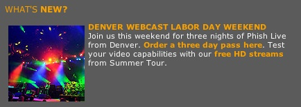 phish denver webcast labor day