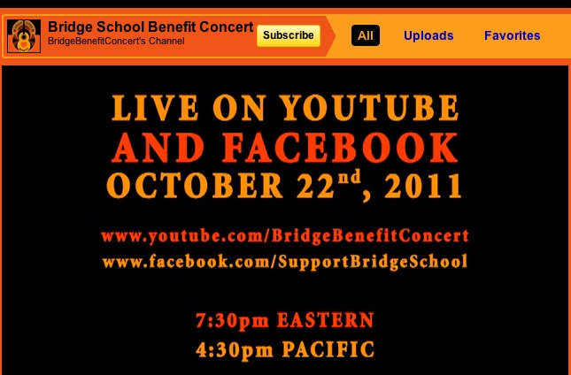 bridge school webcast today