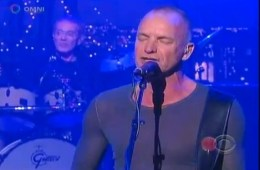 sting on letterman