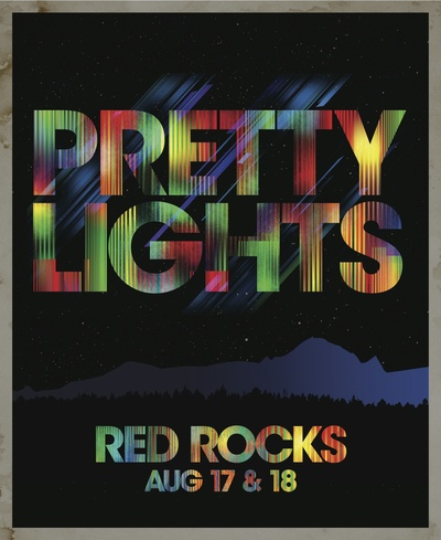 pretty lights at red rocks