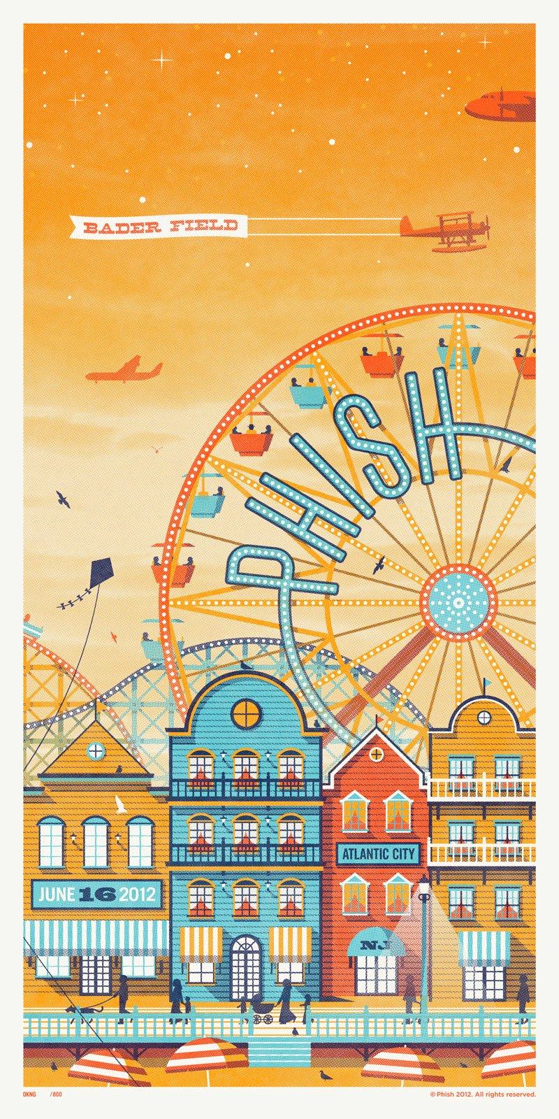 phish bader field poster night 2
