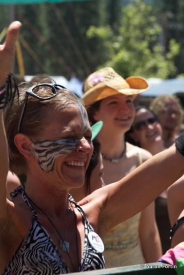 Fan taking in the Elephant Revival, Big Meadow, HSMF 2012