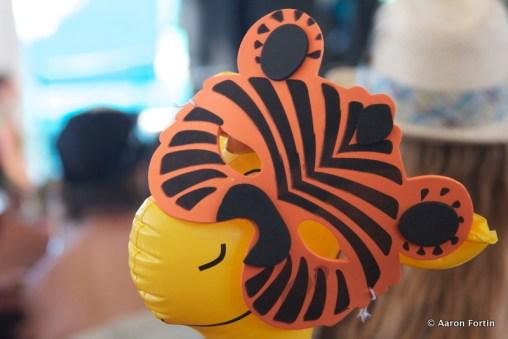 Tigerface on a giraffe, Vaudeville Tent, HSMF 2012