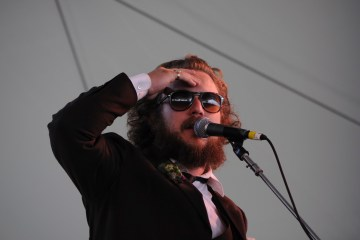 Jim james at Newport Folk 2010 Photo by Eric Tsurumoto
