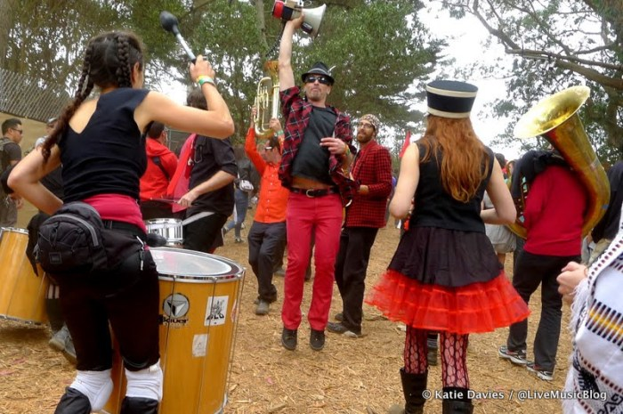 Extra Action Marching Band @ Outside Lands || Photo by Katie Davies