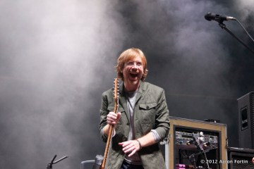 Trey Anastasio Smiling 8/15/12 Phish